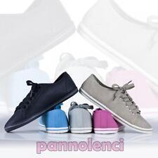 Scarpe sneakers donna lacci stringate ecopelle ginnastica fitness nuove DSY041