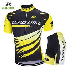 Men's Cycling Clothing Suit Short Sleeve Bike Bicycle Jerseys +Short Set Yellow