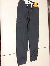 NWT Gymboree Boys Pull on Pants Cargo Gray Jogger 7,8