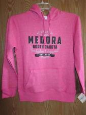 NEW- MEDORA NORTH DAKOTA BADLANDS WOMENS S-M J.AMERICA PINK HOODIE