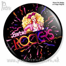 BARBIE & The Rockers ~ Pin Badge or Fridge Magnet [45mm] Retro Toys