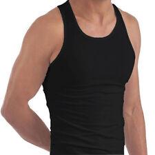 Negro 3 X Para Hombre Ajustada Chalecos Para Traje De Entrenamiento Gimnasio Fitness Lote.