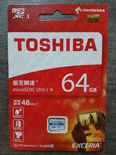Carte Mémoire 64 Go Gb Giga Micro SDXC TOSHIBA - Classe 10 ( Vitesse : 40 MB/s )