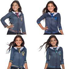 Girls Harry Potter Hogwarts House Crest Tops Fancy Dress Costumes