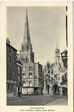 Market Cross And Spire - Chichester Photo Postcard c1940