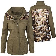 Damen Übergangs Jacke mit Print Damenjacke Vintage Jacke D-290 S-XL