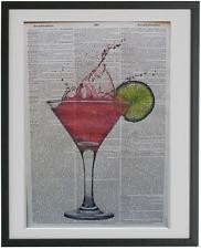 Cocktail Print No.521, alcohol prints, cocktail posters, bar prints, bar decor