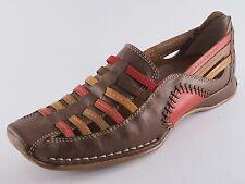 Piazza Damen Schuhe Slipper 41 Leder Halbschuhe Braun Bunt NEU