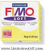 Pain de pâte polymère FIMO Soft jaune 10,16 création bijoux perles