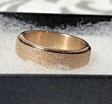 18K Rose Gold Plated Elegant Spinner Spinning Ring Druzy Pretty Lovely Fidget