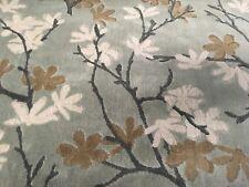 Donghia Floral Vine Linen Velvet Upholstery Fabric- Tryst Scandal Grey 10185-009