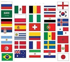 Fußball  WM 2018 Flagge Flaggen Fahne Fahnen Flaggenkette Girlande AUSWAHL