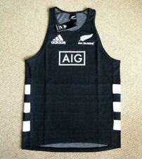 *ALL SIZES* Adidas ALL BLACKS Black RUGBY VEST SINGLET shirt NEW ZEALAND 2020