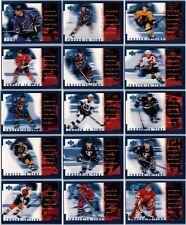 1998-99 UPPER DECK FROZEN IN TIME INSERT CARDS - PICK SINGLES - FINISH SET LOT