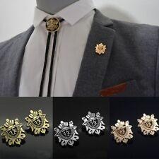Hombres corona Pin Broche Retro Corsage Traje Escudo Camisa De Cuello + Gratis Bolsa De Terciopelo