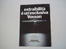 advertising Pubblicità 1979 AUTORADIO VOXSON BOCCARDINO