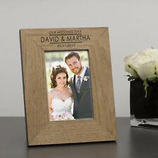 Il nostro matrimonio telaio in legno personalizzato 7x5 Foto/Cornice Casa Matrimonio