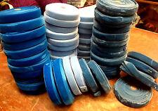 "VINTAGE 5/8"" VELVET ribbon MADE IN ENGLAND 3 yds Turquoise Powder Blue or Teal"