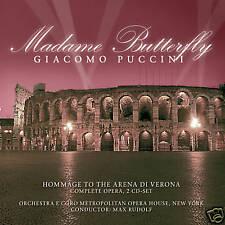 CD Madame Butterfly von Giacomo Puccini Komplett Aufnahme  2CDs Arena Di Verona