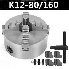 Lathe Chuck K12 80-160 mm Self Centering Reversible 4 Jaw Wood Turning Machine