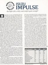 1983 1984 Isuzu Impulse - Road Test - Classic Article D145