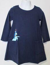Hanna Andersson Girl Unicorn Navy Art Pocket Dress NWT