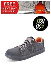 SAFETY FOOTWEAR BLACK DUAL DENSITY SNEAKER TRAINER SHOE SIZES 5-13 HGCF18BS