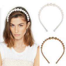 Cute Girls Big Pearl Headband Hairband Hair Band Hoop Headwrap Hair Accessories