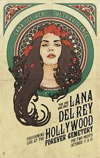 62576 Lana Del Rey Star FRAMED CANVAS PRINT UK
