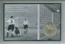 Inglaterra 3-6 Hungría Hugarian curso Masterclass Ferenc Puskas Corona moneda Set De Regalo De 1953