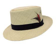 CAPAS PORK PIE TELESCOPE PANAMA STRAW HAT - Same Day Shipping