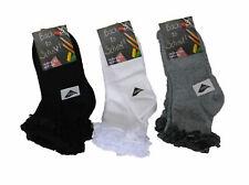 12 PAIA bambine misto cotone maglietta in pizzo, bianco grigio nero caviglia