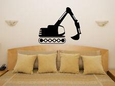 Jcb Digger Camión Infantil Dormitorio Niños Adhesivo para habitación pared