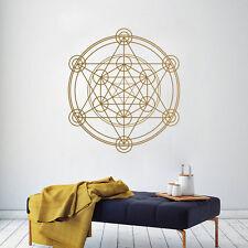 Geometría Sagrada Alquimia Geométrico Vinilo de Pared Decal Sticker Línea Círculo Mandala