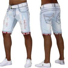 Jeans Shorts Lightning Bermuda destroid Capri karo Kurze Hose Vintage Casual