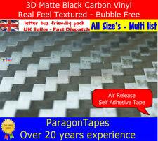 Envoltura de Vinilo de Fibra de Carbono 3D negro-cinta de Tejido de sarga con textura Coche Carro Bicicleta Van