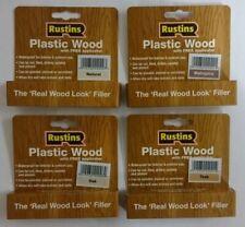 Rustins Plastica Legno Riparazione Crepe buchi ecc. Indoor & Outdoor veloce asciugatura 30g