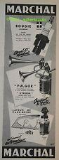 Publicite de 1956  MARCHAL BOUGIE FULGOR STRIDOR LAVEUR PARE BRISE AD ADVERT PUB
