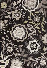 "8x11 Milliken Garden Passage Grey Modern Floral Area Rug - Approx 7'8""x10'9"""