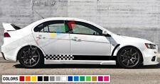 LIP Stripe kit For Mitsubishi lancer evolution evo 10 X SPOILER WING bumper 2011