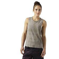 Reebok Combat spraydye Tostado sansto top tanque de mujer camiseta deportiva