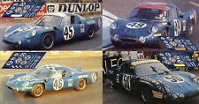 Calcas Alpine A210 Le Mans 1969 1:32 1:24 1:43 1:18 64 87 slot decals