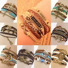 Armband - Damenarmband Anker Kreuz Maske Infinity Freundschaft Anhänger #S22