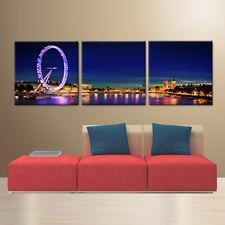 LONDON EYE modern wall art print mounted on fiberboards/better than Canvas print