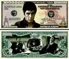 SCARFACE / AL PACINO BILLET de Collection 1 MILLION DOLLAR US ! A VOIR !!