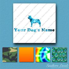 Custom Australian Cattle Dog Name Decal Sticker - 25 Printed Fills - 6 Fonts