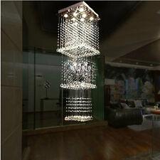 New K9 Luxury Crystal Pendant Lamp Ceiling Lighting Chandelier Raindrop Lobby