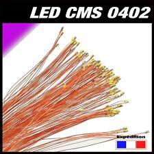 C144P# LED CMS pré-câblé 0402 violet - rose fil émaillé 5 à 20pcs - prewired LED