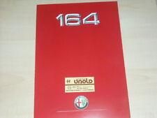 30995) Alfa Romeo 164 Prospekt 1987