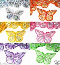 2 Stk Applikationen Aufbügler (1Stk/0,60€) Schmetterling Bügelbild Nähen 1205